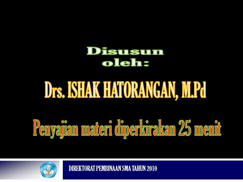 Drs. ISHAK HATORANGAN, M.Pd