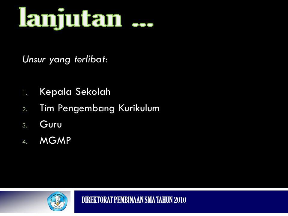 Tim Pengembang Kurikulum Guru MGMP