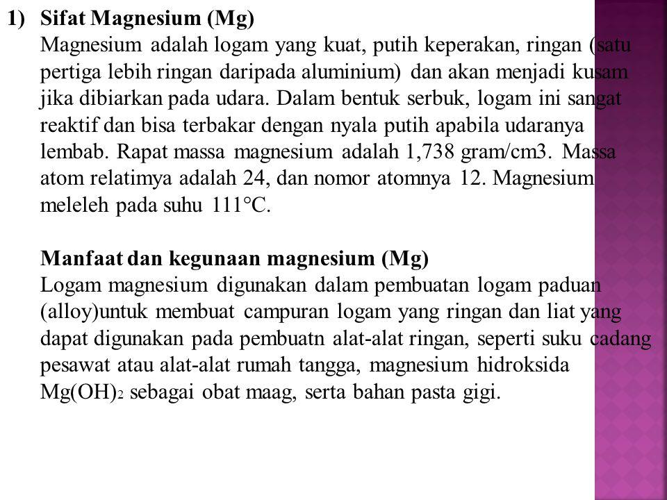 Sifat Magnesium (Mg)