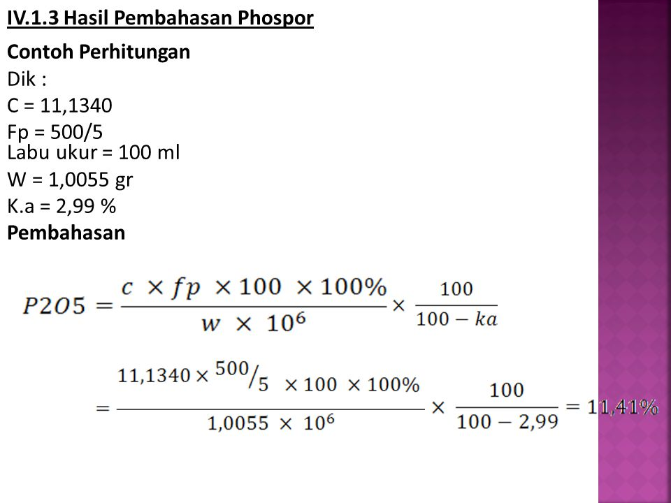 IV.1.3 Hasil Pembahasan Phospor