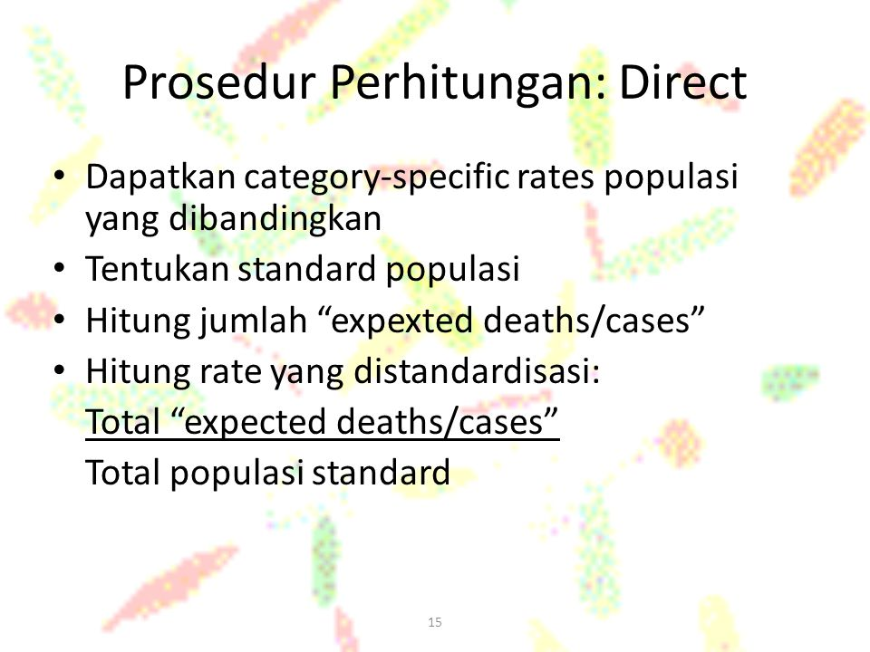 Prosedur Perhitungan: Direct