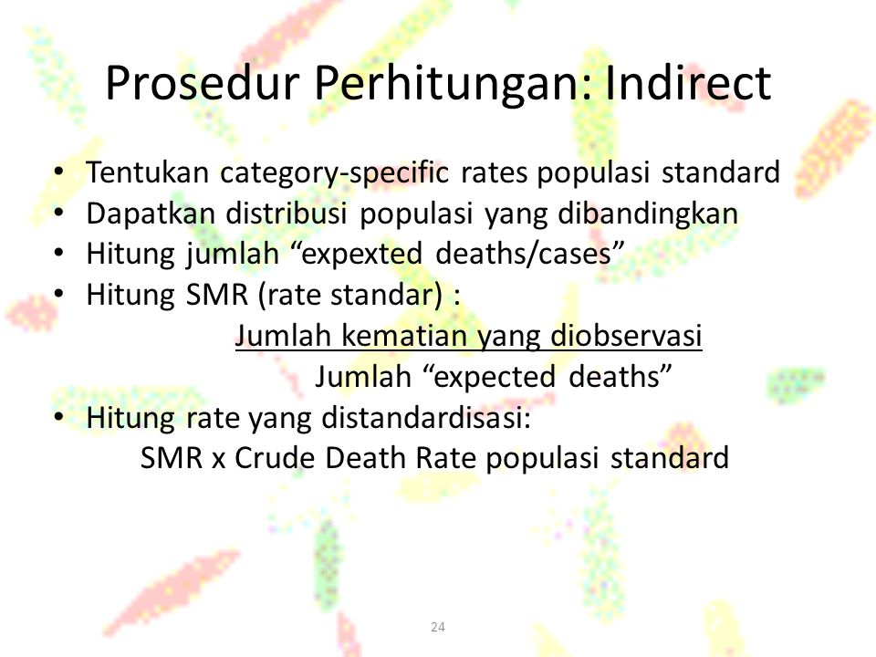 Prosedur Perhitungan: Indirect