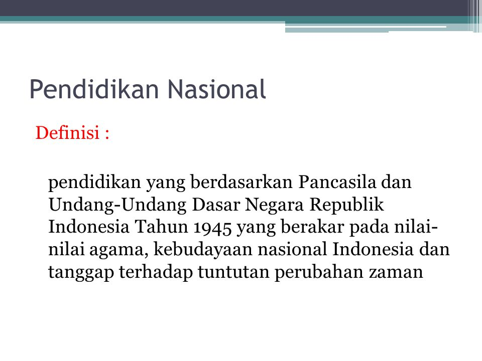 Pendidikan Nasional