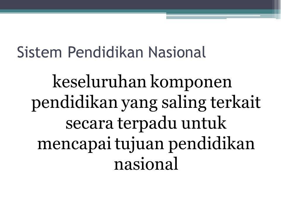 Sistem Pendidikan Nasional