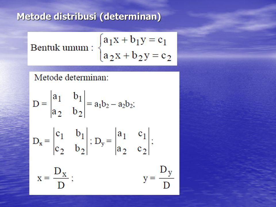 Metode distribusi (determinan)