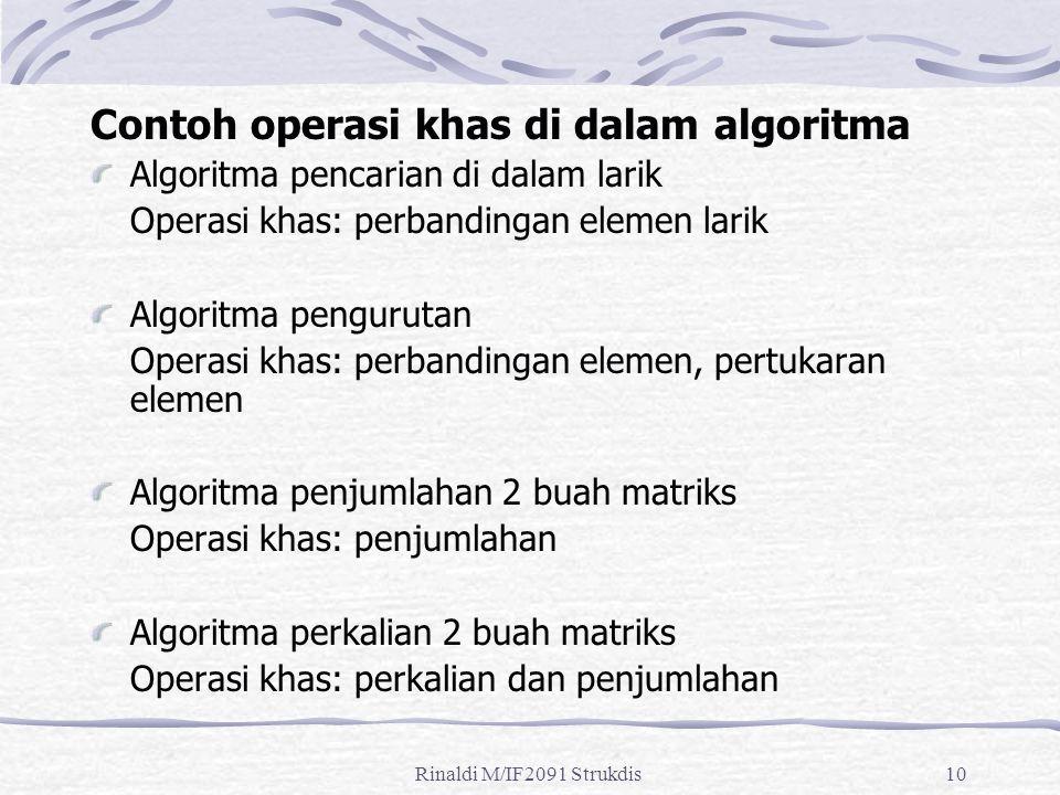 Contoh operasi khas di dalam algoritma