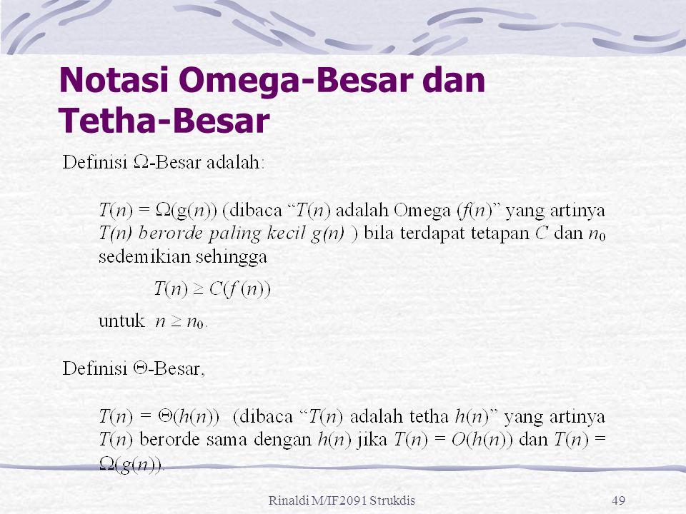 Notasi Omega-Besar dan Tetha-Besar
