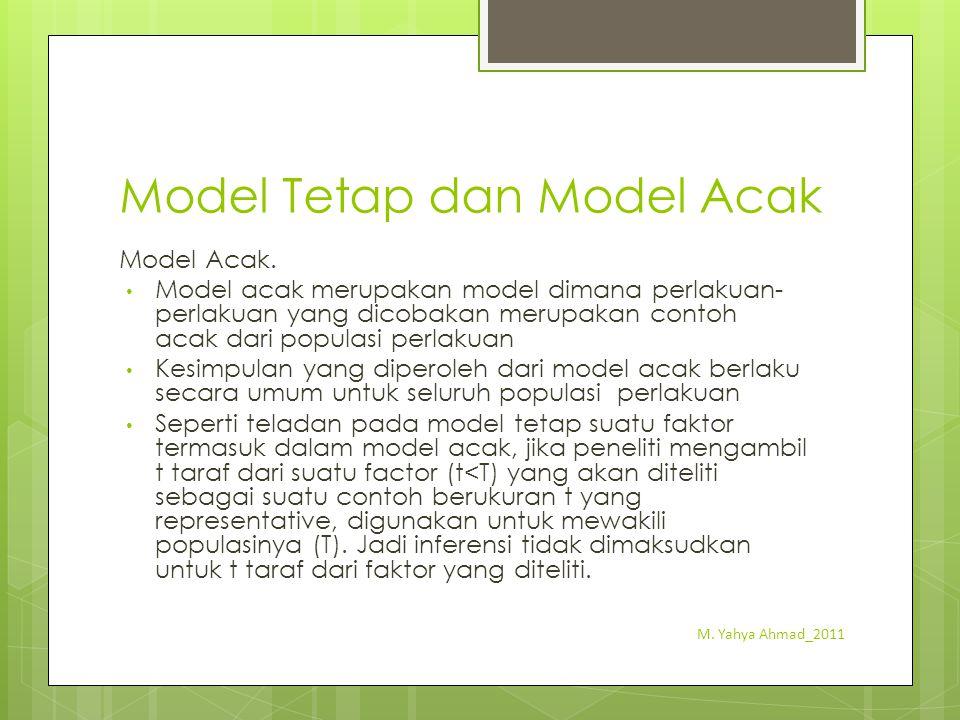 Model Tetap dan Model Acak