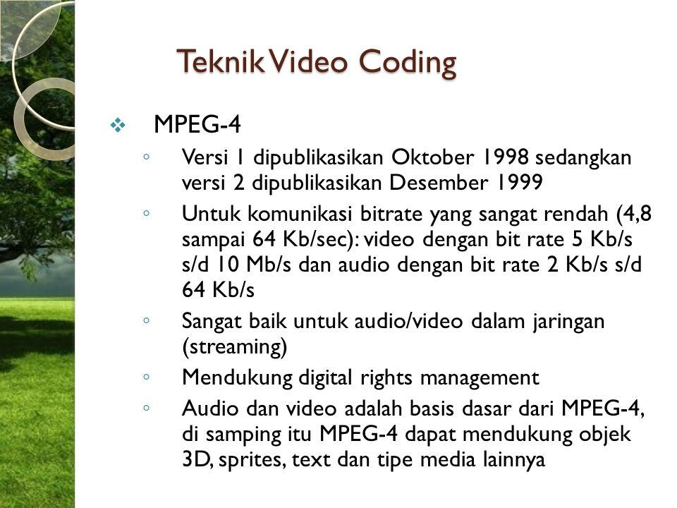 Teknik Video Coding MPEG-4