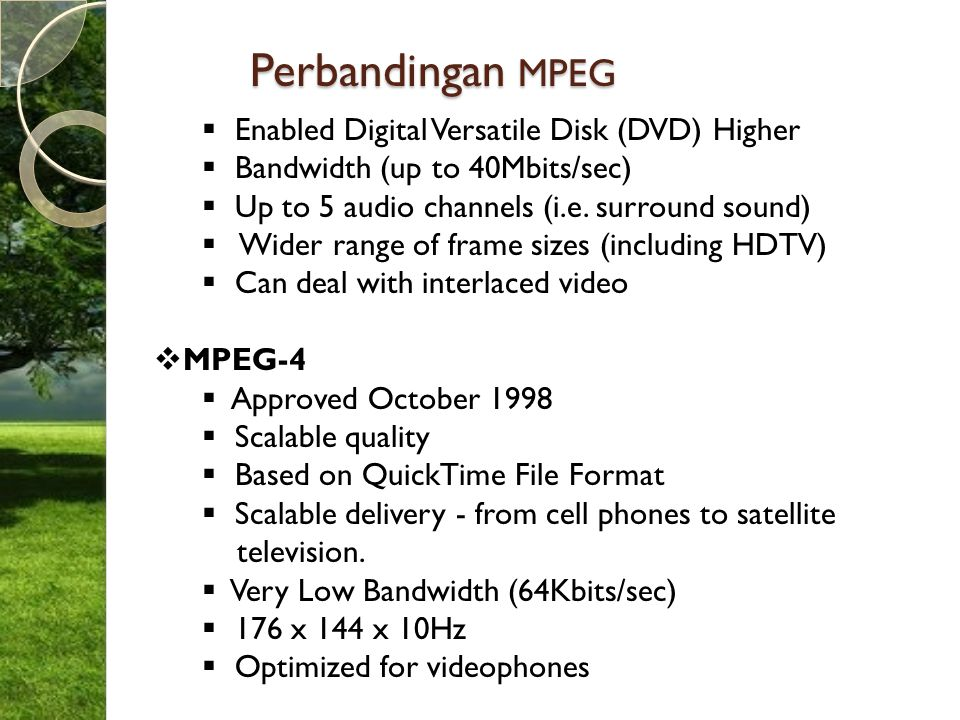 Perbandingan MPEG Enabled Digital Versatile Disk (DVD) Higher