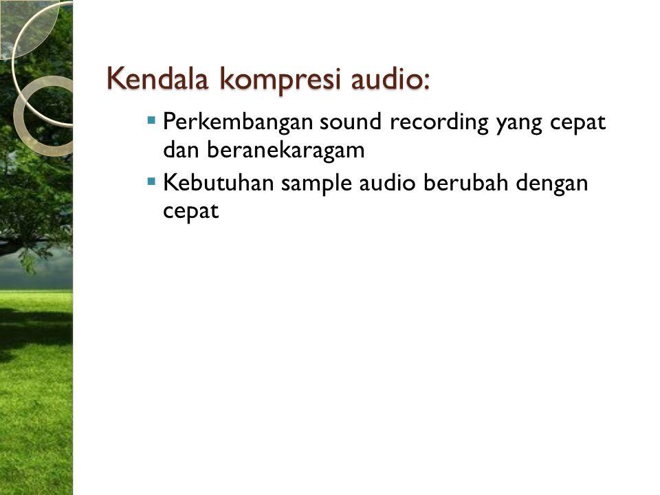 Kendala kompresi audio: