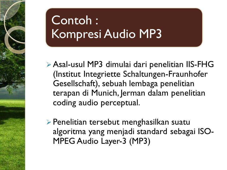 Contoh : Kompresi Audio MP3