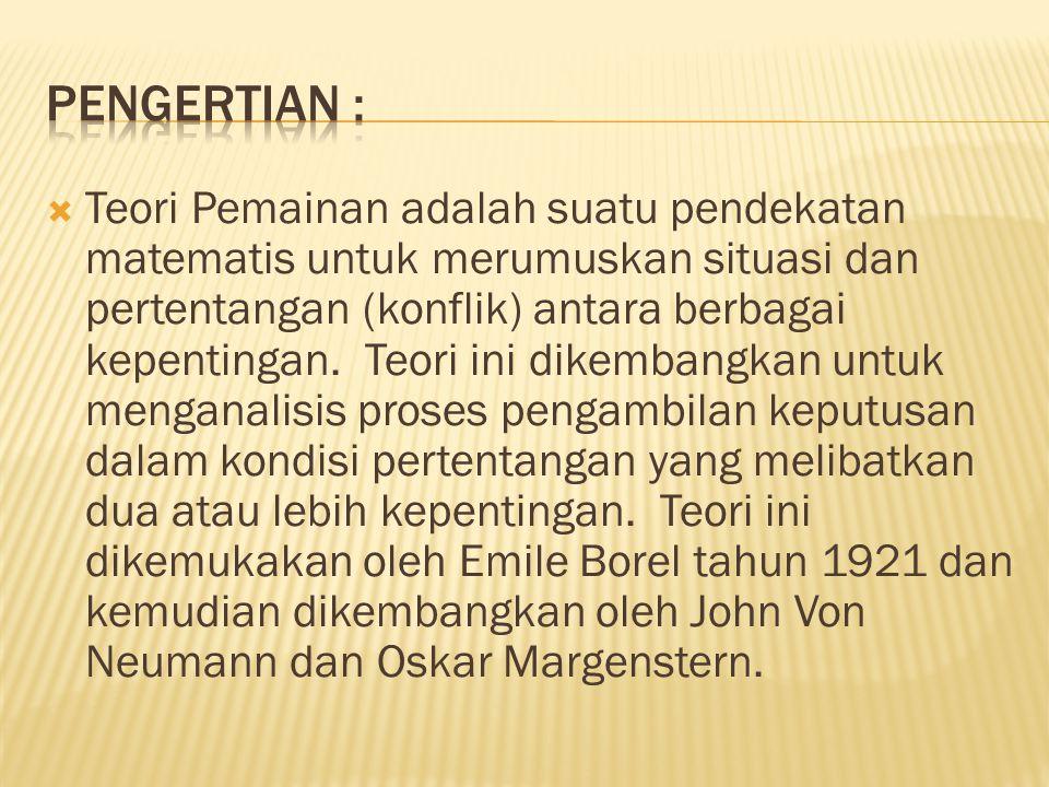 PENGERTIAN :