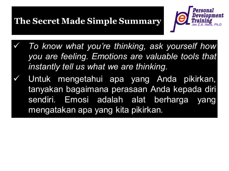 The Secret Made Simple Summary