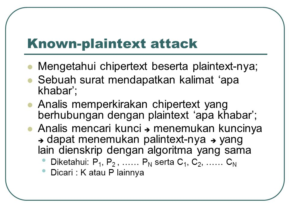 Known-plaintext attack