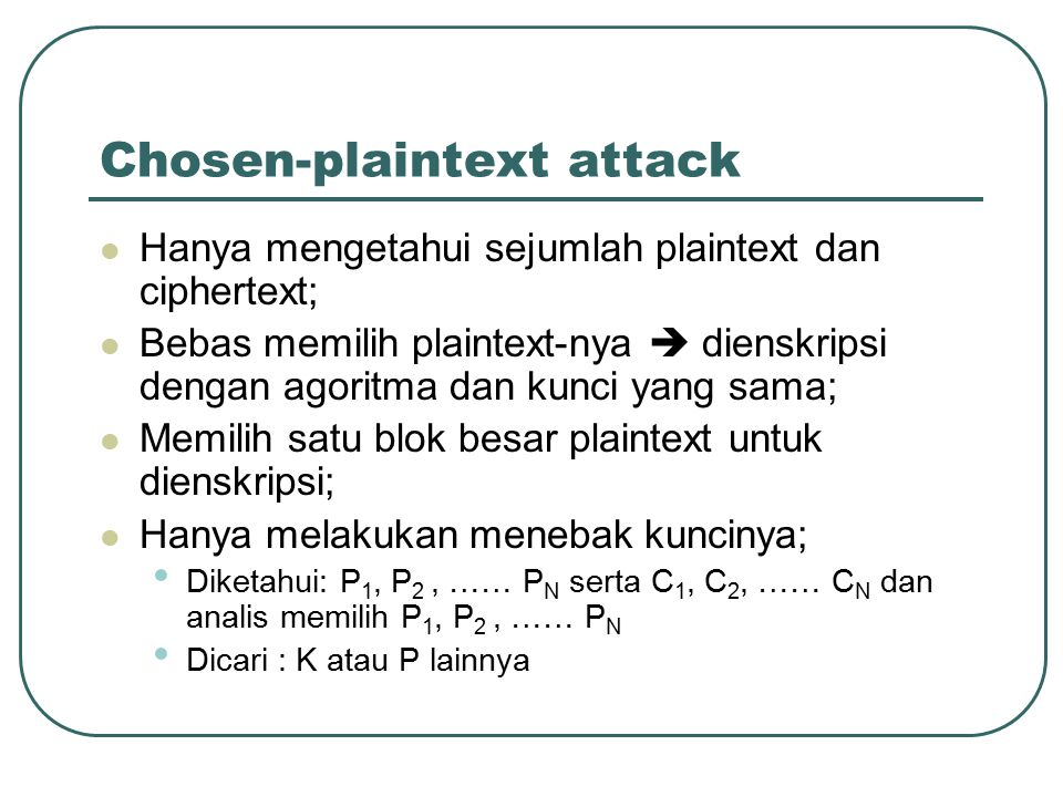 Chosen-plaintext attack