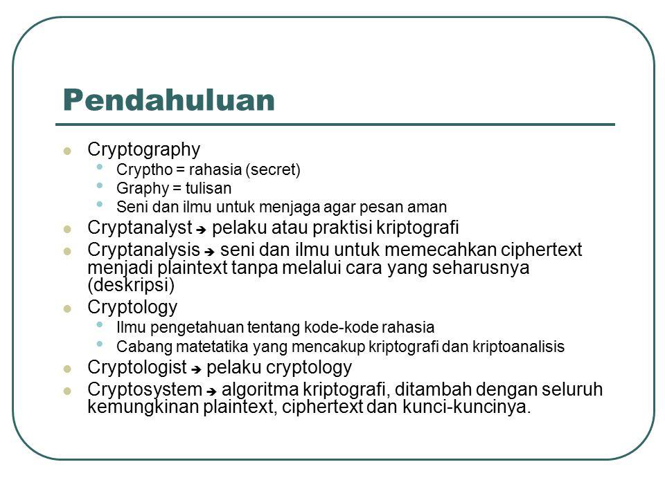 Pendahuluan Cryptography