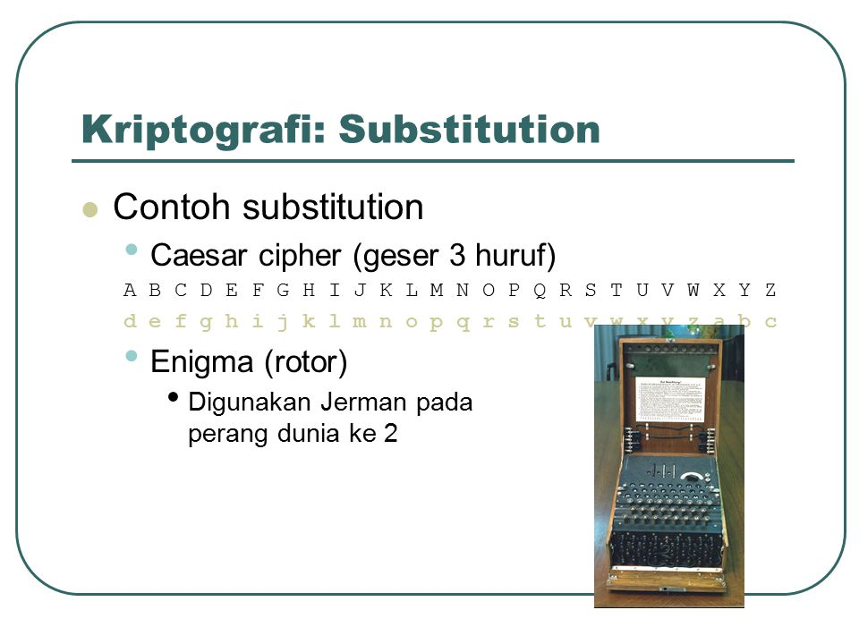 Kriptografi: Substitution