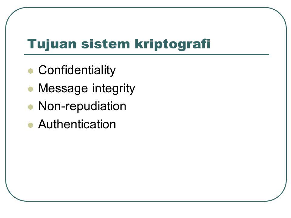 Tujuan sistem kriptografi