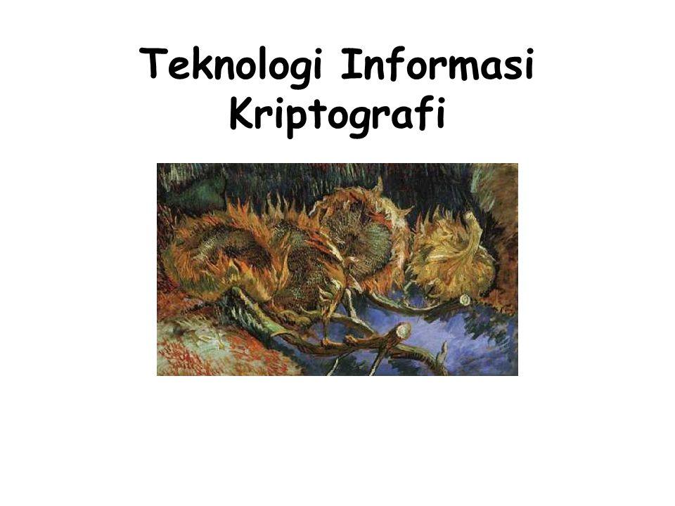 Teknologi Informasi Kriptografi