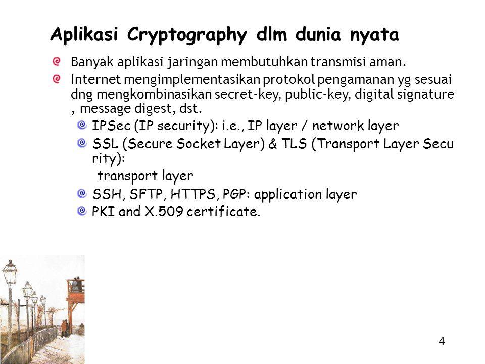 Aplikasi Cryptography dlm dunia nyata