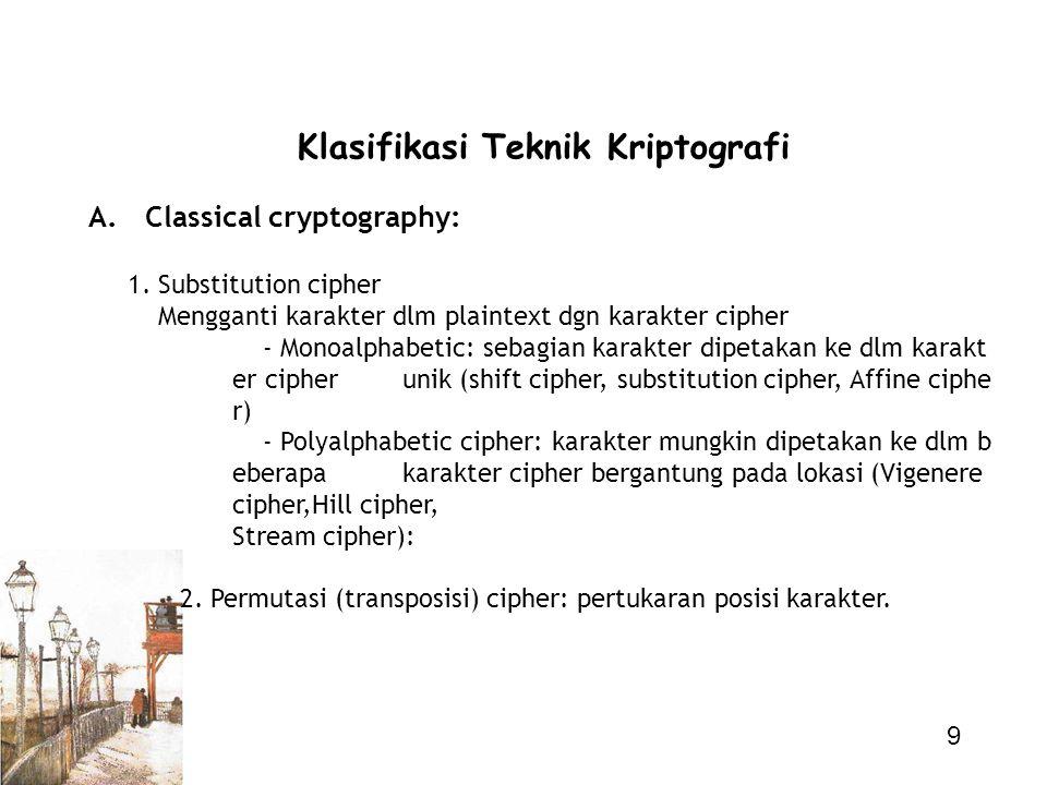 Klasifikasi Teknik Kriptografi