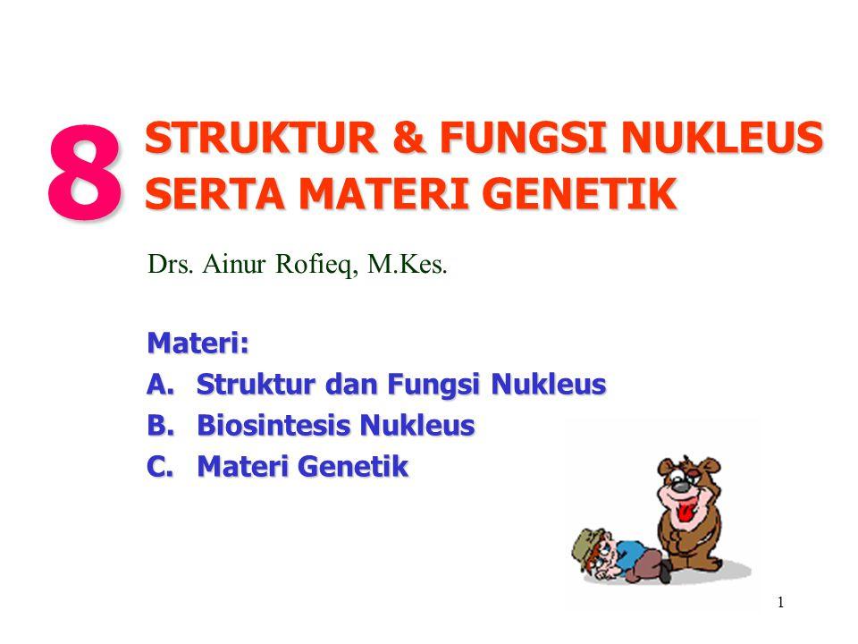 8 STRUKTUR & FUNGSI NUKLEUS SERTA MATERI GENETIK