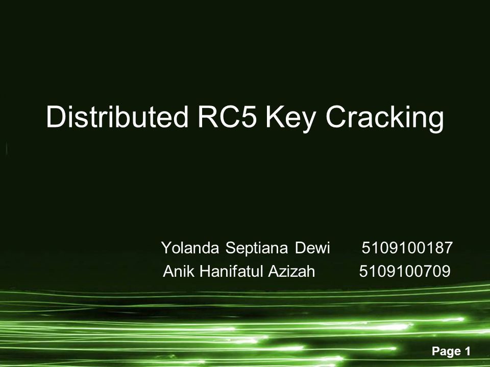 Distributed RC5 Key Cracking