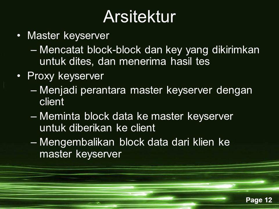 Arsitektur Master keyserver