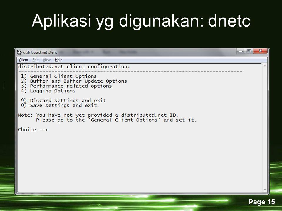Aplikasi yg digunakan: dnetc