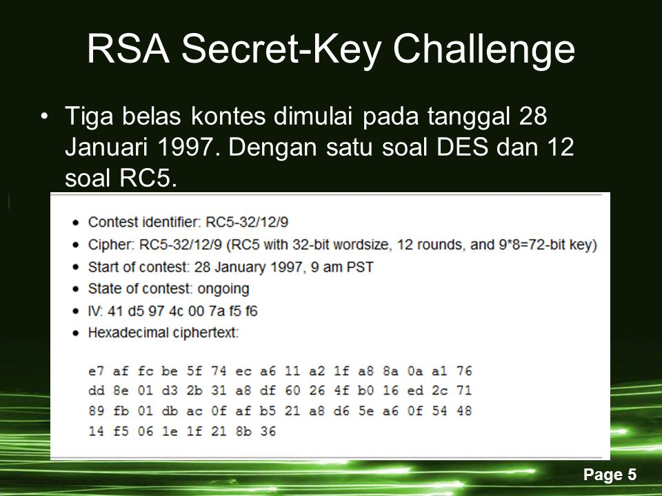 RSA Secret-Key Challenge