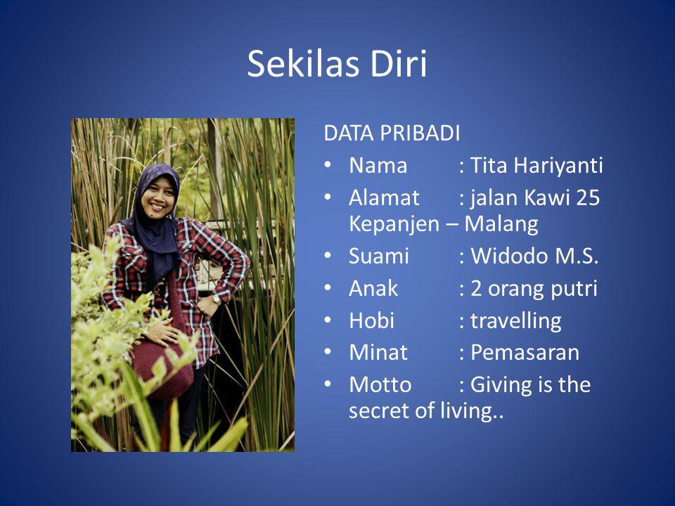 Sekilas Diri DATA PRIBADI Nama : Tita Hariyanti