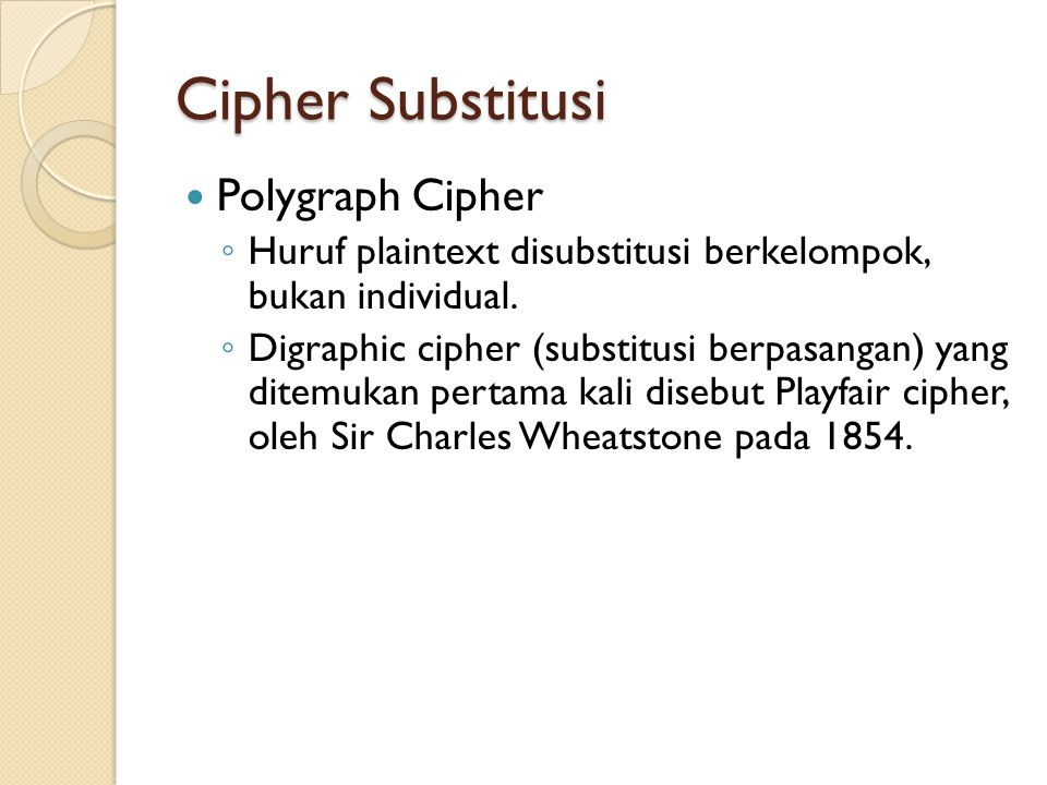 Cipher Substitusi Polygraph Cipher