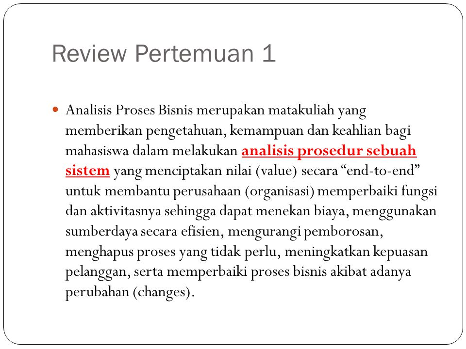 Review Pertemuan 1