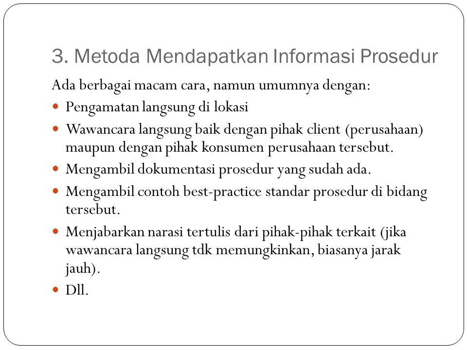 3. Metoda Mendapatkan Informasi Prosedur