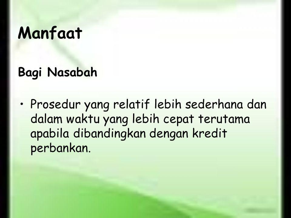 Manfaat Bagi Nasabah.