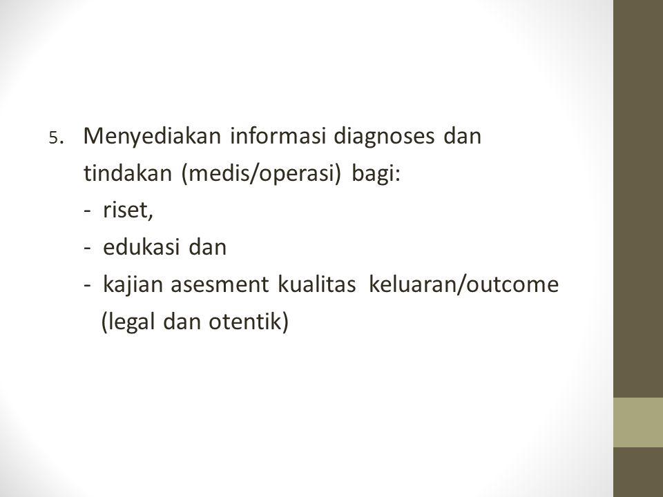 tindakan (medis/operasi) bagi: - riset, - edukasi dan