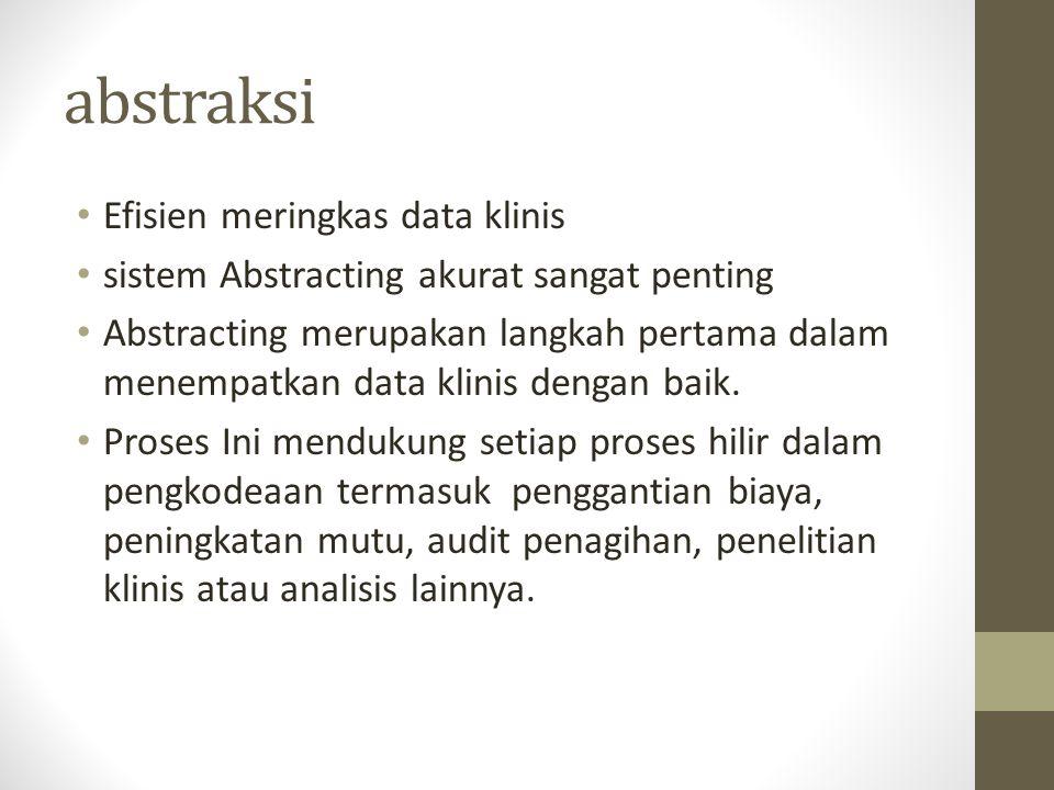 abstraksi Efisien meringkas data klinis