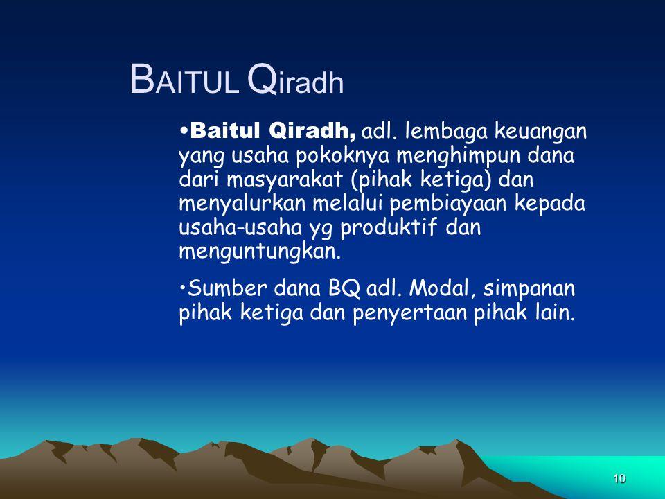 BAITUL Qiradh