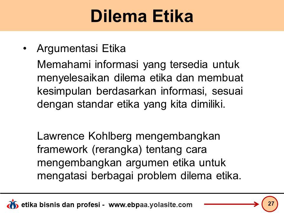 Dilema Etika Argumentasi Etika