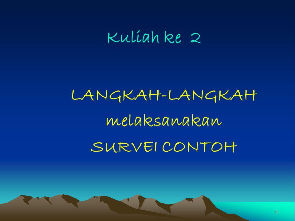 LANGKAH-LANGKAH melaksanakan SURVEI CONTOH