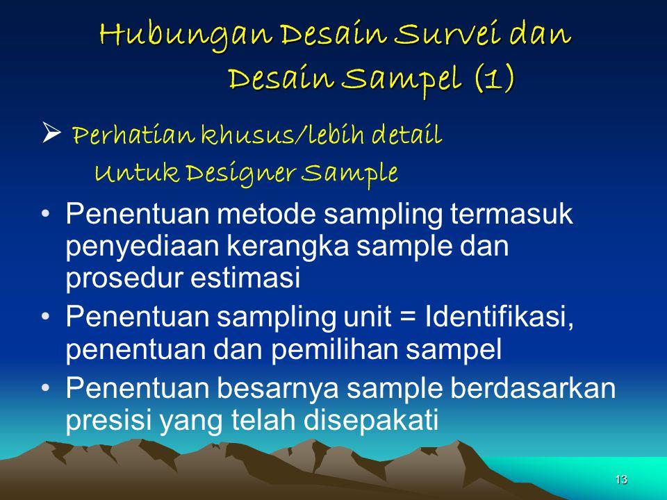 Hubungan Desain Survei dan Desain Sampel (1)