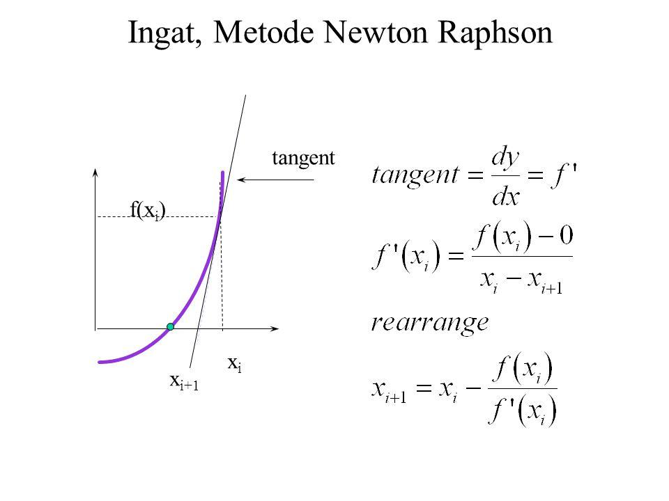 Ingat, Metode Newton Raphson