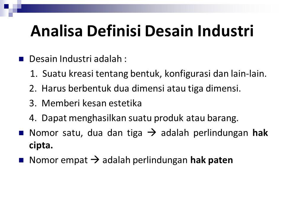 Analisa Definisi Desain Industri