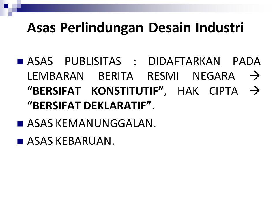 Asas Perlindungan Desain Industri