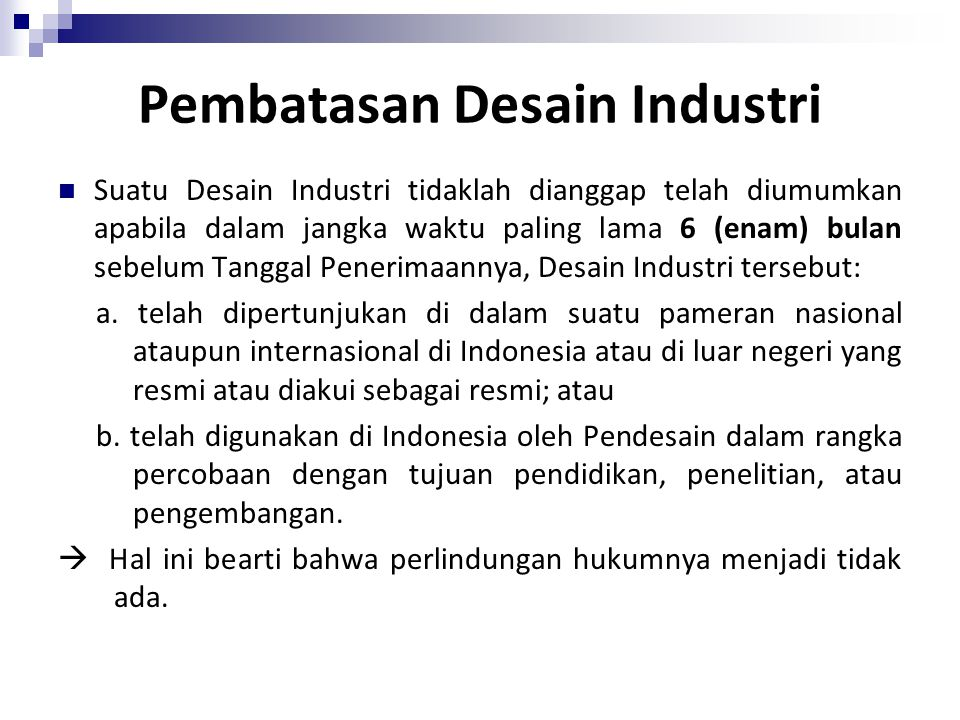 Pembatasan Desain Industri