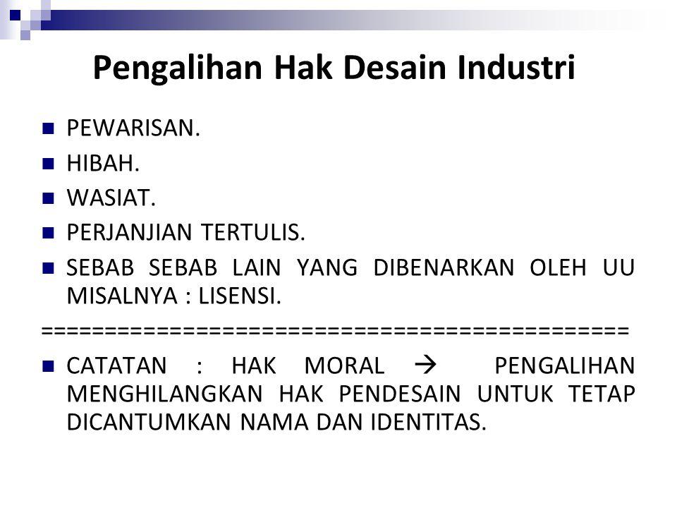 Pengalihan Hak Desain Industri
