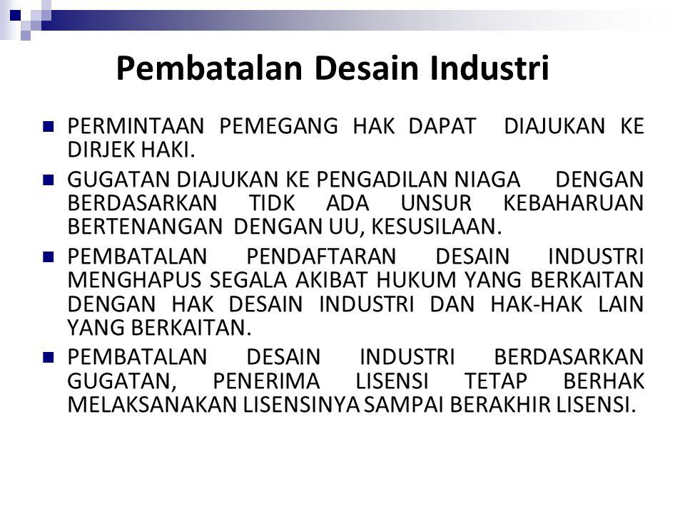 Pembatalan Desain Industri