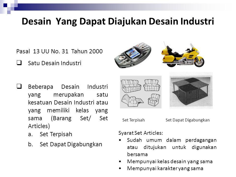 Desain Yang Dapat Diajukan Desain Industri