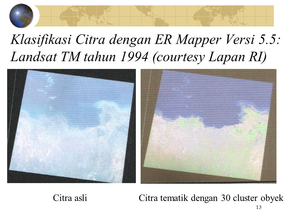 Klasifikasi Citra dengan ER Mapper Versi 5